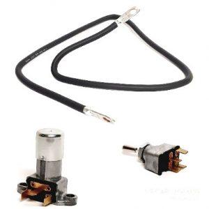 Kabeln, Stecker, Schalter